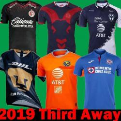 newest collection 7db2a 8d7e1 DHL Shipping 2018 2019 Mexico Liga MX CHIVAS Guadalajara Long Club America  UNAM TIGRES Monterrey Soccer Jerseys 18 19 cruz azul third Shirt tmq0815 ...